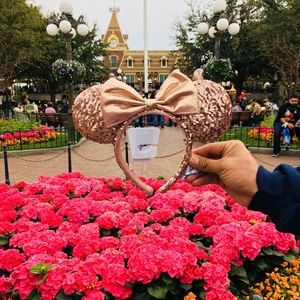 🌸Rose Gold Minnie Mouse Ears🌸